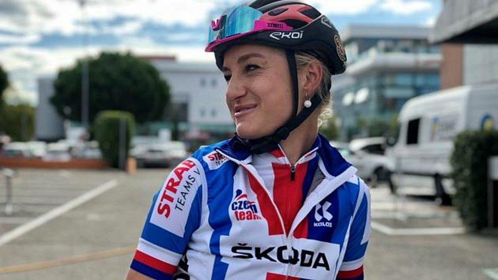Česká cyklistka Tereza Korvasová