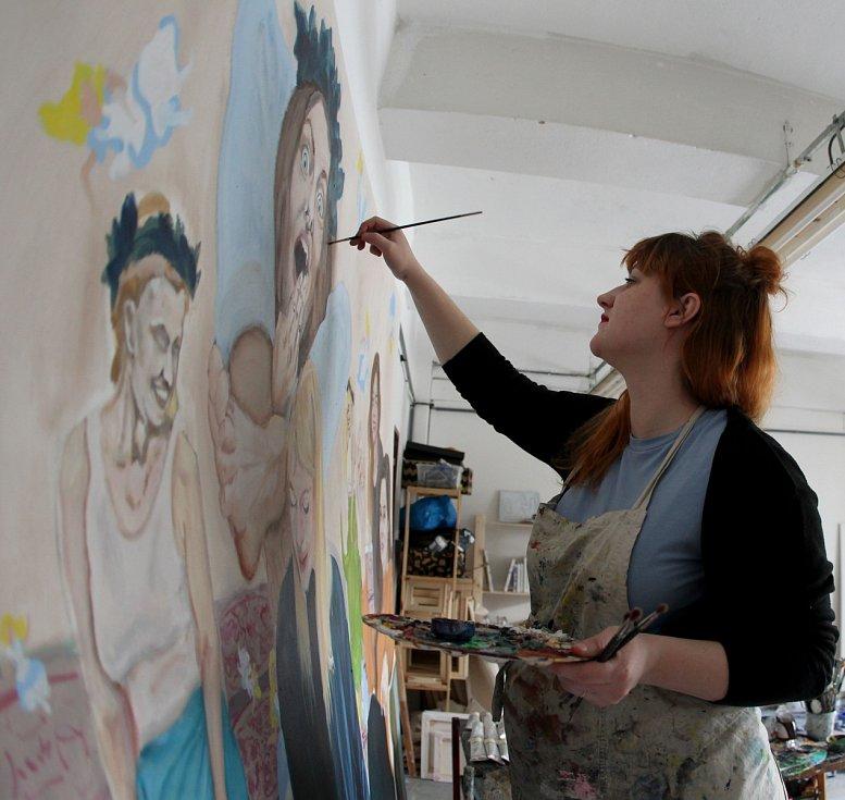 Tereza Zichová při tvorbě