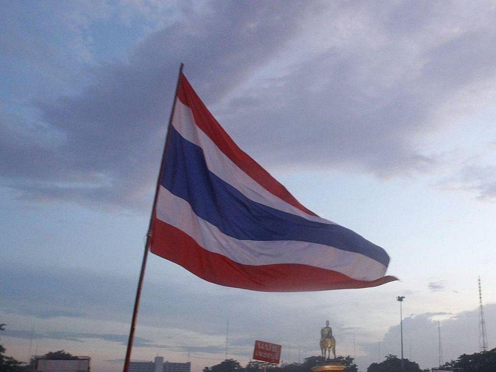Thajská vlajka - ilustrační foto.
