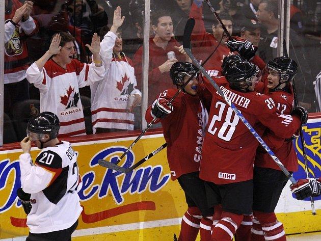 Kanadští mladíci na mistrovství světa zdolali Německo 5:1.