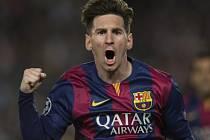 Lionel Messi přiblížil Barcelonu finále Ligy mistrů.