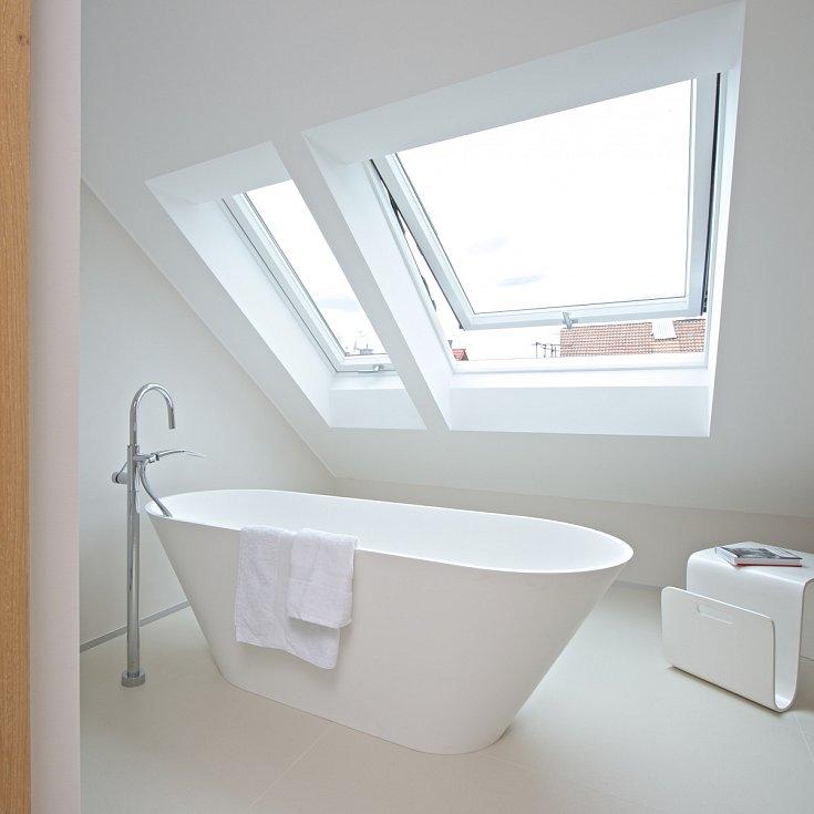 Koupelna pro hosty ve druhém patře
