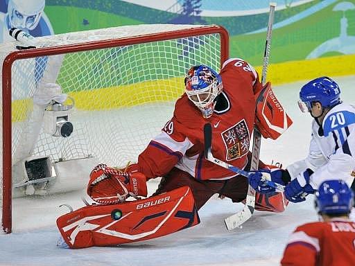 Gólman Tomáš Vokoun byl na olympijských hrách ve Vancouveru velkou oporou českého týmu.