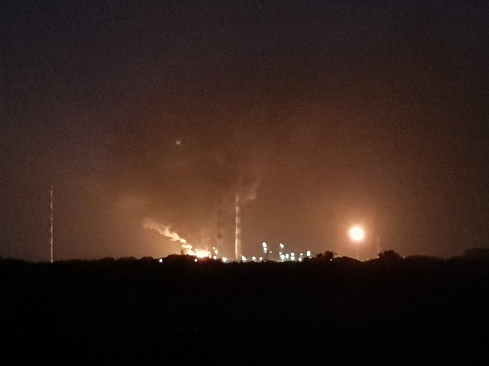 Požár průmyslové zóny v Německu u Ingolstadtu