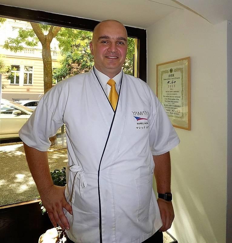 Marek Hora, šéfkuchař japonské restaurace Yamato