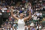Karolína Plíšková ve Wimbledonu.