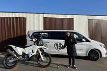 Libor Podmol s novou motorkou.