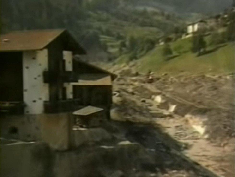 Pod přehradou vzala zasvé velká část městečka Tesero