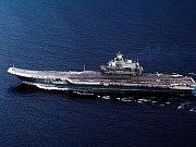 Letadlová loď Admirál Kuzněcov. Ilustrační foto.