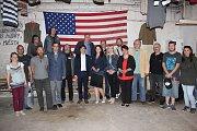 Uvítání v klubu Eden pro amerického velvyslance Andy Shapira 13. května 2016