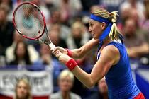Petra Kvitová v semifinále Fed Cupu proti Francii nezaváhala.