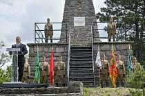 Slavnostní odhalení památníku ke stému výročí Trianonské dohody. Maďarský premiér Viktor Orbán