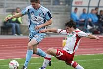 Fotbalisté Ústí (v modrém) hostili tým Zlína.