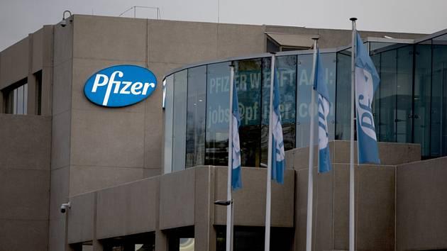 Budova výrobního závodu společnosti Pfizer v belgickém Puursu.