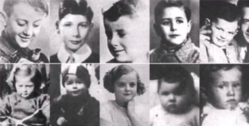 Židovské děti, které byly 20. dubna 1945 povražděny v hamburské škole v důsledku zrůdných nacistických pokusů