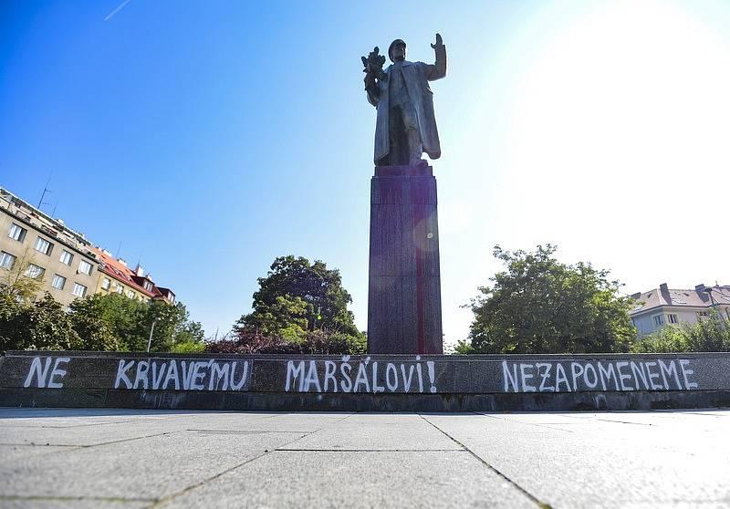 Pomník maršála Koněva v Praze