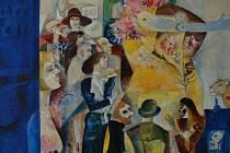Významný královéhradecký malíř Jiří Ščerbakov má nyní vzpomínkovou výstavu.