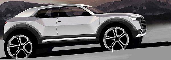 První skica plánovaného Audi Q1.