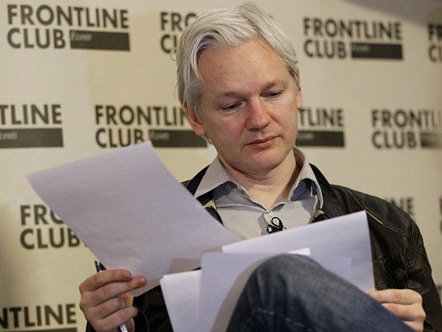 Zakladatel serveru WikiLeaks Julian Assange.