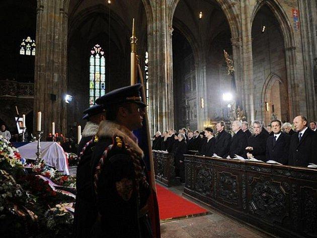 Státní pohřeb bývalého prezidenta Václava Havla v katedrále sv. Víta na Pražském hradě v pátek 23. prosince 2011.