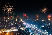 Festival Diwali v Indii.