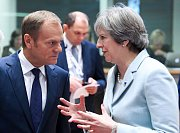 Britská premiérka Theresa Mayová na vrcholné schůzce s představiteli států EU v Belgii