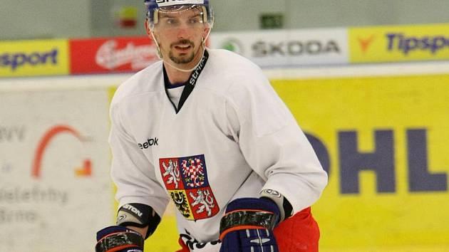 Radek Martínek na tréninku české reprezentace.
