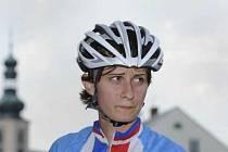 Martina Sáblíková v cyklistickém.