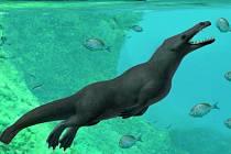 Kresba možné podoby čtyřnohého předchůdce dnešních velryb