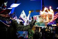 Protesty v Jižní Koreji proti severokorejské delegaci