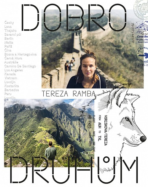 Obálka cestopisné knihy DobroDruhům, autorky Terezy Ramba