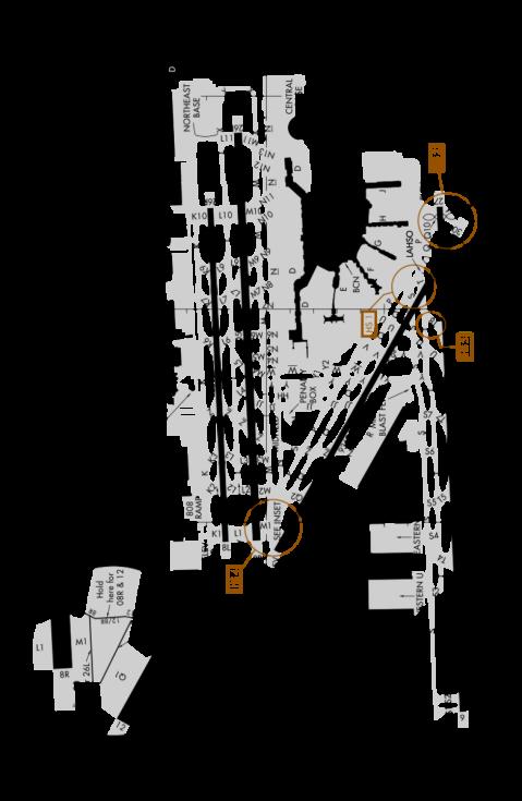 Schéma mezinárodního letiště v Miami