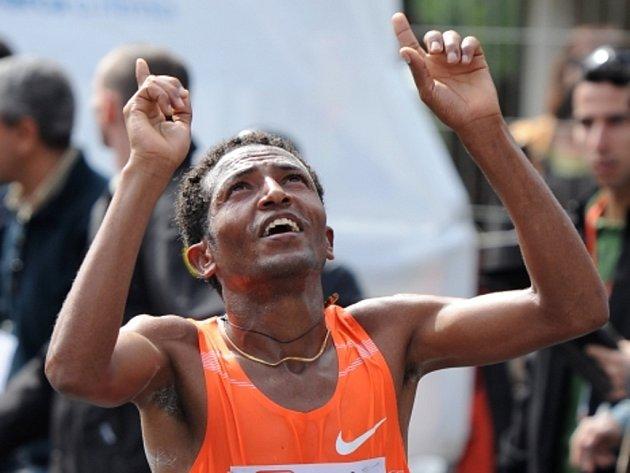 Světový rekordman Zersenay Tadese.