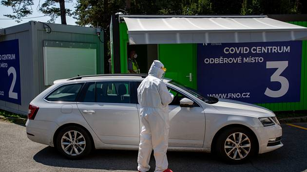 Covid centrum k odběru vzorků pro testování na nový typ koronaviru