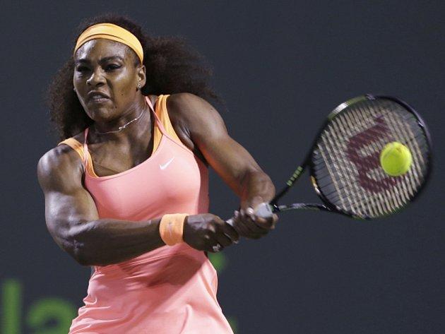Serena Williamsová v semifinále turnaje v Miami.