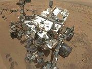 Modul Curiosity při průzkumu Marsu