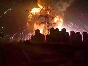 požár v Číně, ilustrační foto