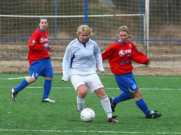 Fotbalistky Viktorie Plzeň nestačily v prvoligovém duelu na Slovácko a svým soupeřkám podlehly 0:3.