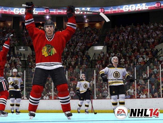 Počítačová hra NHL 14.