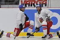 Jan Hejda (vlevo) s Jiřím Novotným na tréninku