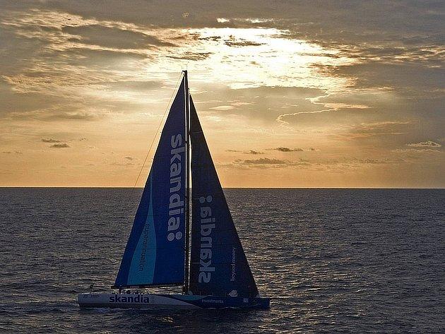 Australská jachta Skandia na startu regaty Sydney - Hobart.