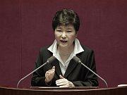 Bývalá jihokorejská prezidentka Pak Kun-hje.