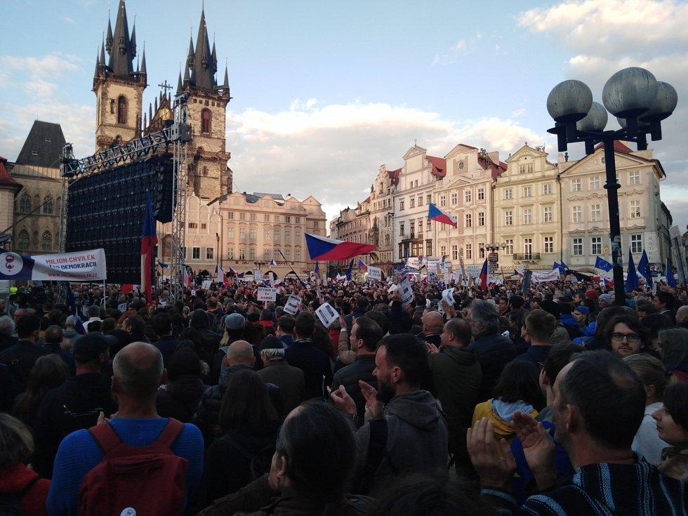 Protesty proti jmenování Marie Benešové v Praze