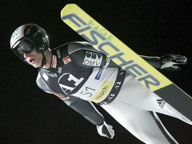 Roman Koudelka v závodě SP ve Villachu.