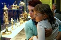 MAMINKO, TA RUKA JE SKUTEČNĚ OPRAVDOVÁ? jako by se ptaly oči malé Kačenky. Na otázku vzápětí odpověděl František Kadlec stručně: Ano. Ve vitríně je uložen gotický relikviář s ostatkem betlémského neviňátka.