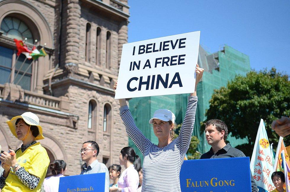Protesty proti porušování lidských práv v Číně
