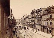 Pražská ulice Na Příkopě.