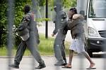 Razie německé policie ve Ellwangenu.