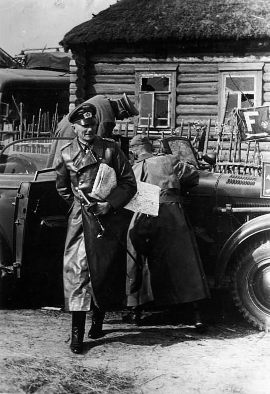 Velitel německé skupiny armád Střed, polní maršál Fedor von Bock na východní frontě