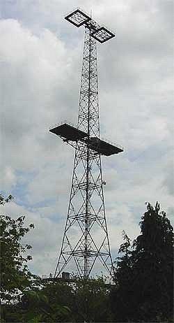 Radarová věž v Great Baddow
